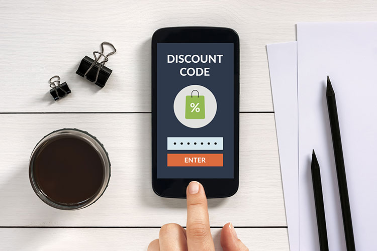 shop smart with discount coupons